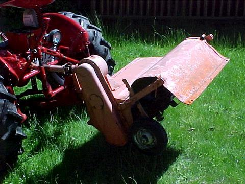 Rotovator mounted on a Farmall Cub with Fast Hitch Bob in New Jersey