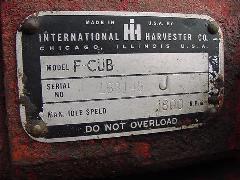 1951 Cub Serial Plate